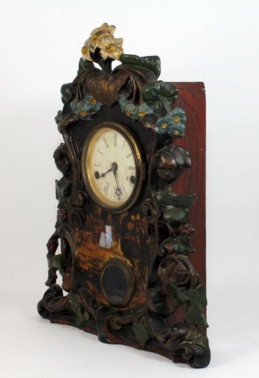 ANTIQUE TERHUNE & EDWARDS IRON FRONT MANTLE CLOCK - 3