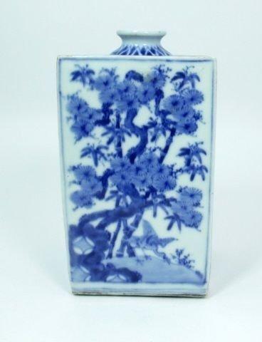 OLD JAPANESE BLUE & WHITE PORCELAIN VASE