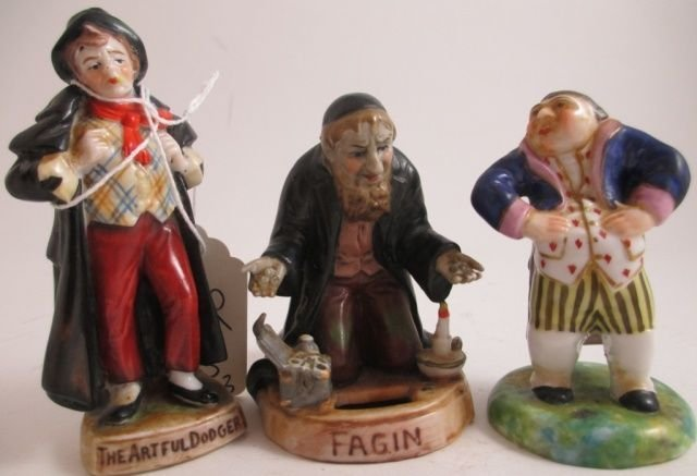 (3) GERMAN PORCELAIN FAMOUS ICON STATUES