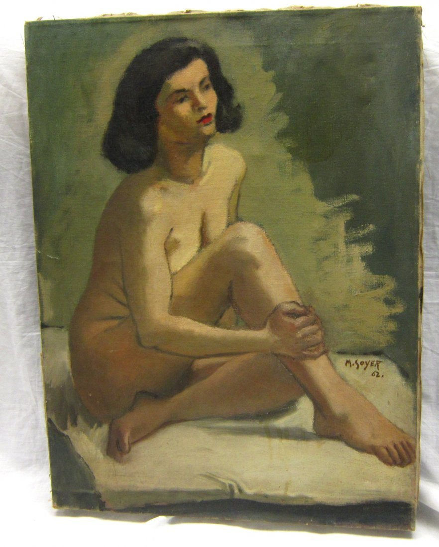 M SOYER OIL PAINTING  (AMERICAN, 1899-1974) NUDE