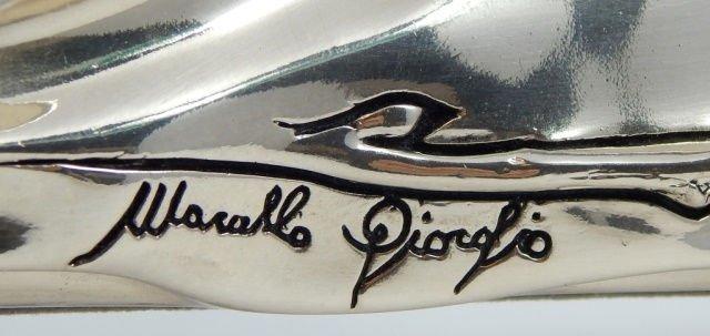 SIGNED MARCELLO GIORGIO SILVER PLATE FLORAL FRAME - 7