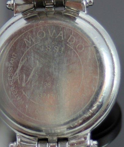 MOVADO 'AVISO' LADIES STAINLESS STEEL WRIST WATCH - 5