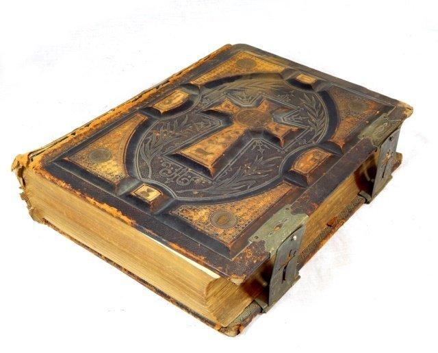 ANTIQUE 1884 P.F. COLLIER NY CATHOLIC BIBLE