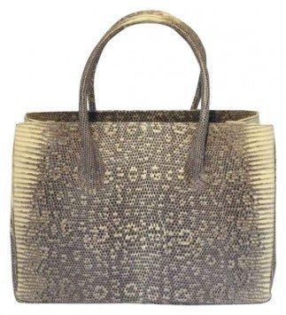 Alexandra Knight Exotic Ring Lizard grey Handbag