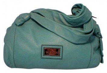 Valentino Lambskin Teal Tote Bag