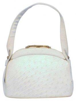 Private Label Vintage White-ostrich Handbag Bag