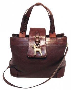 Barry Kieselstein-Cord Leather Poodle Shoulder Bag