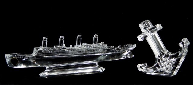 WATERFORD CRYSTAL TITANIC SHIP & ANCHOR