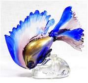 MURANO ITALIAN ART GLASS FIGURAL FISH SCULPTURE