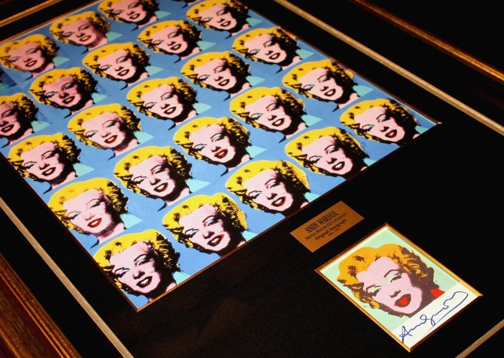 AUTHENIC HAND SIGNED ANDY WARHOL MARILYN MONROE