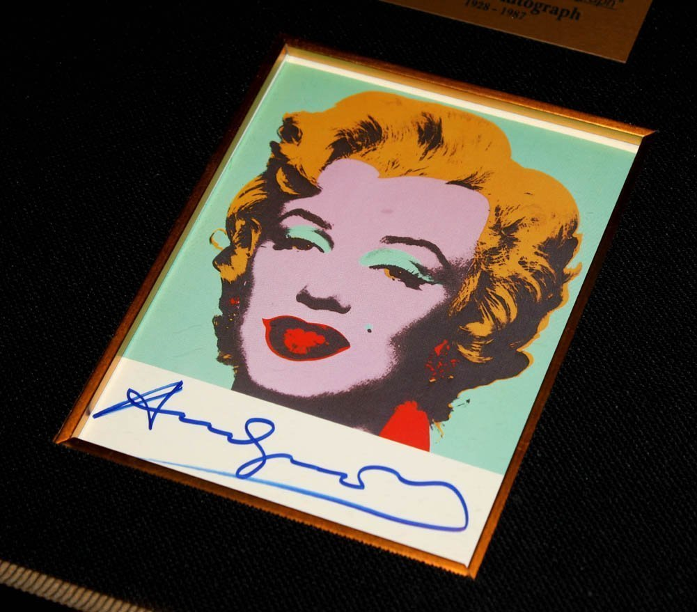 AUTHENIC HAND SIGNED ANDY WARHOL MARILYN MONROE - 2