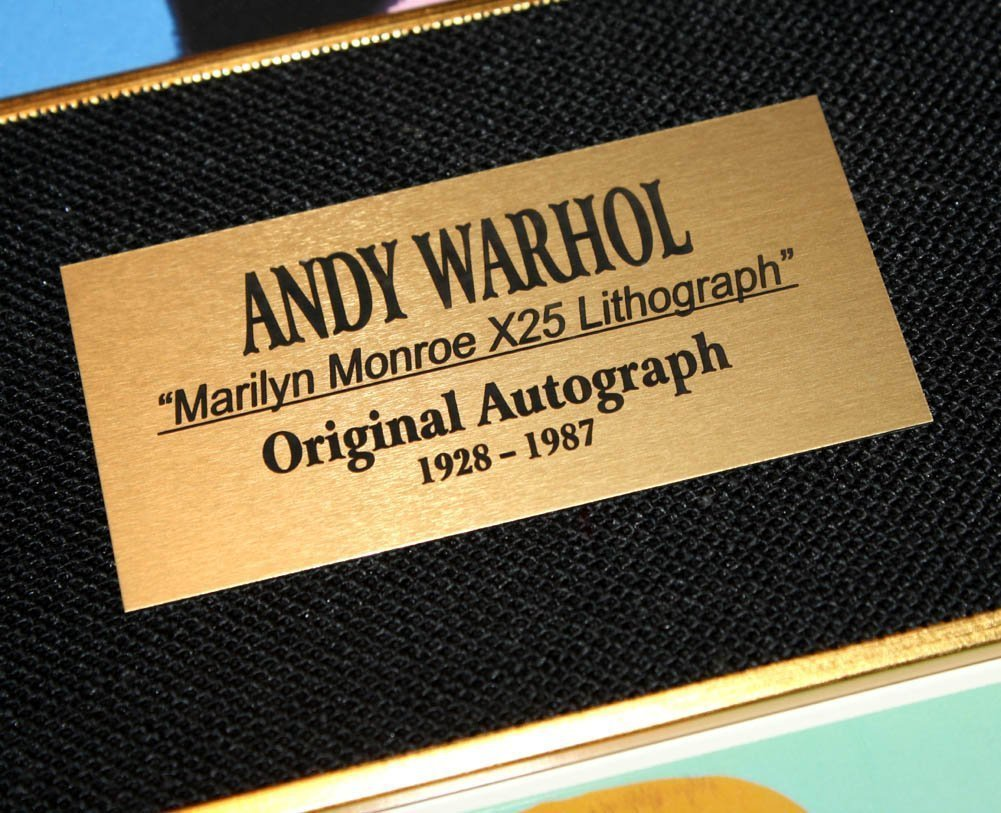 AUTHENIC HAND SIGNED ANDY WARHOL MARILYN MONROE - 5