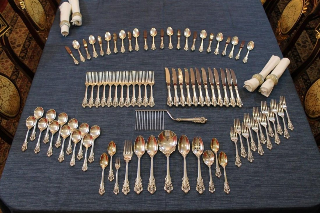 Wallace Grande Baroque 85 Piece Sterling Silver