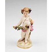 19th century Meissen porcelain allegorical figurie