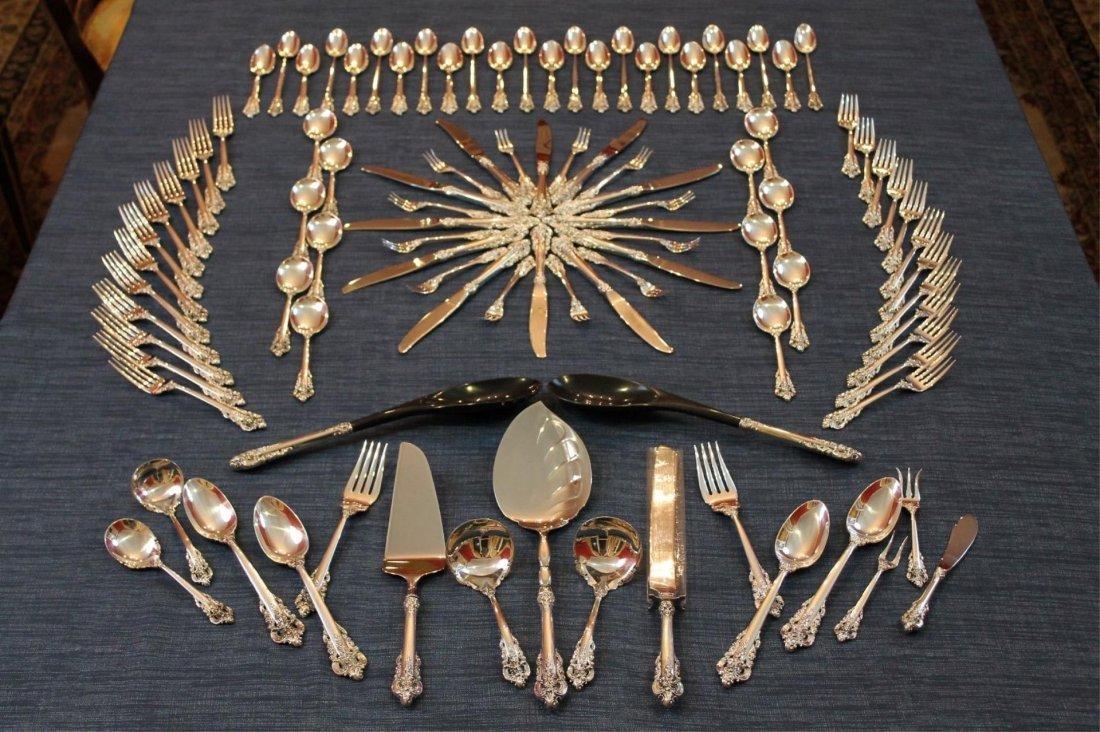 Wallace Grande Baroque 102 Piece Sterling set