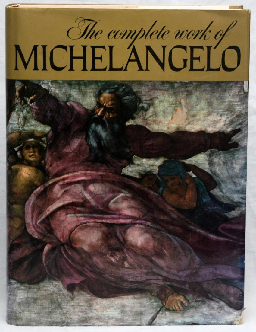 """THE COMPLETE WORK OF MICHELANGELO"" LARGE BOOK"