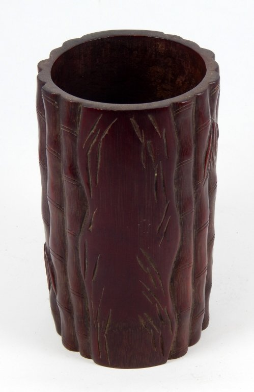 18TH/19TH.C CHINESE BAMBOO CARVED BRUSH POT