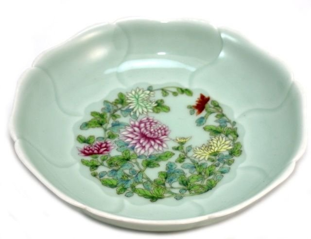 20th C CHINESE FAMILLE ROSE LOTUS BOWL, XUANDE
