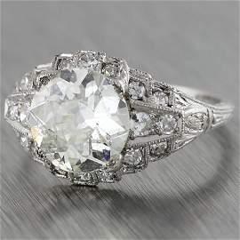 Antique art deco platinum diamond engagement