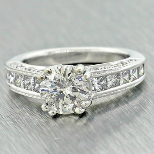 14k White Gold 2.20ct Diamond Engagement Ring