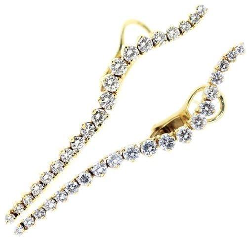Jose Hess 14k 2.65ctw Diamond Squiggle Earings