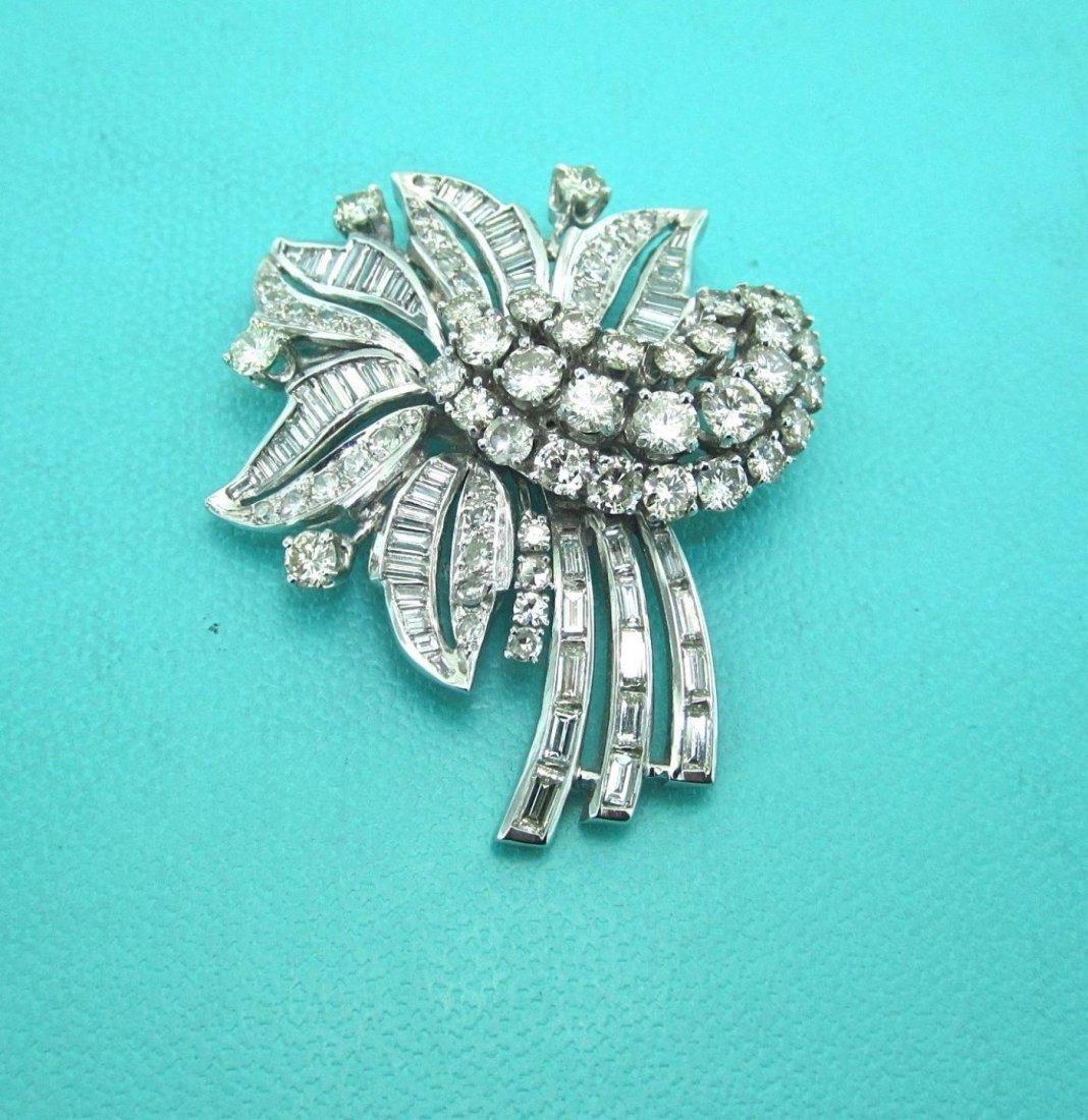 1940's art deco platinum & diamond brooch