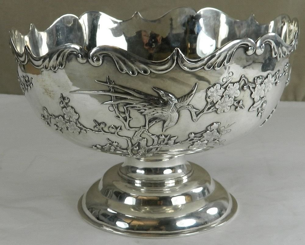 Chinese Export Silver Footed Bowl, Shing Fat