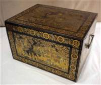 Chinese Export Tea Box, 19th c