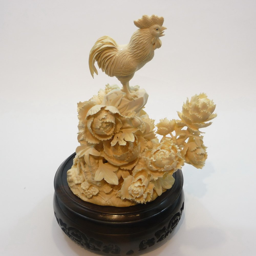 Mammoth Ivory Carvings - The Rooster