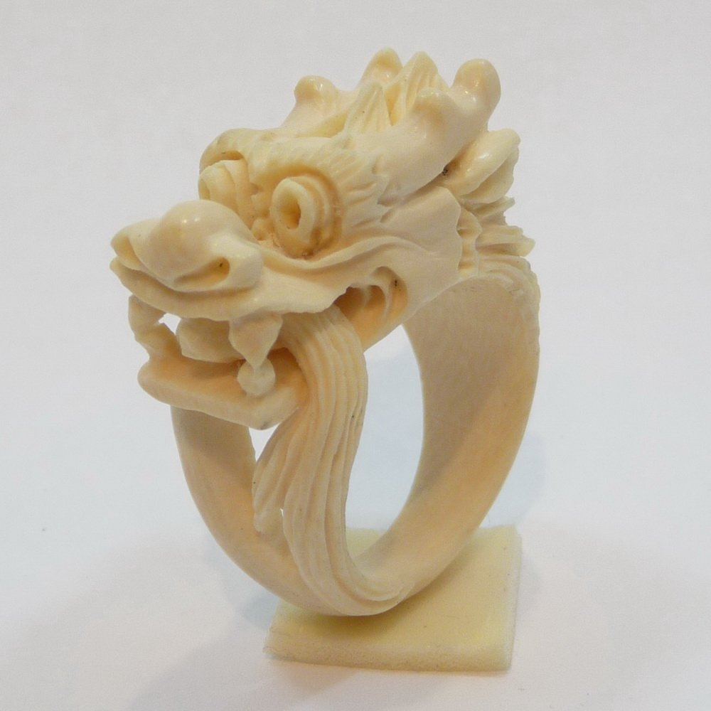 Mammoth Ivory Jewelry - Dragon Ring