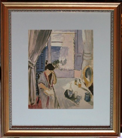 "MATISSE ""WOMAN READING AT A DRESSING TABLE"" - FRAMED"