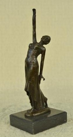 """DECO DANCER"" BY CHIPARUS - BRONZE - SIGNED"