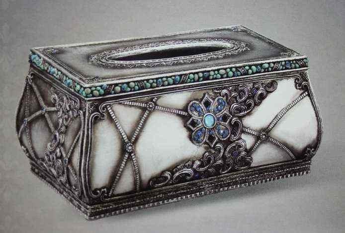 ANTIQUE LOOK TISSUE BOX
