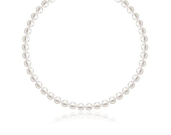 14KW GOLD NECKLACE W/ WHITE FRESHWATER CULTURED PEARLS