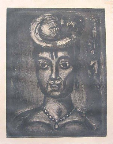 """GEORGES ROUAULT ORIGINAL ETCHING FOR MISERERE  """"FEMME"""