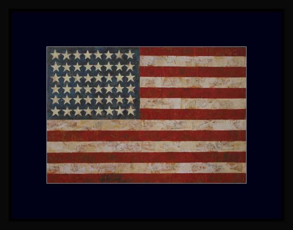 """JASPER JOHNS """"FLAG"""" - FRAMED"""
