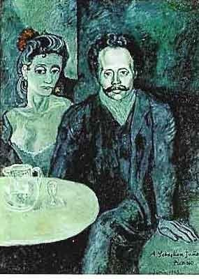 "PICASSO ""COUPLE AT CAFÉ TABLE"""