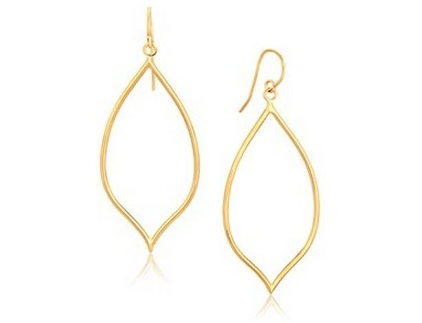 14KY GOLD MARQUISE STYLE POLISHED EARRINGS-