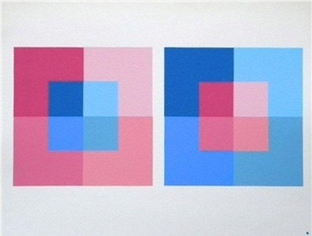 "ALBERS SILKSCREEN ""INTERACTION OF COLOR"" 1995"
