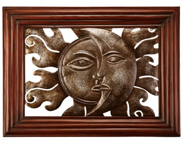 MODERN SUN & MOON WALL HANGING