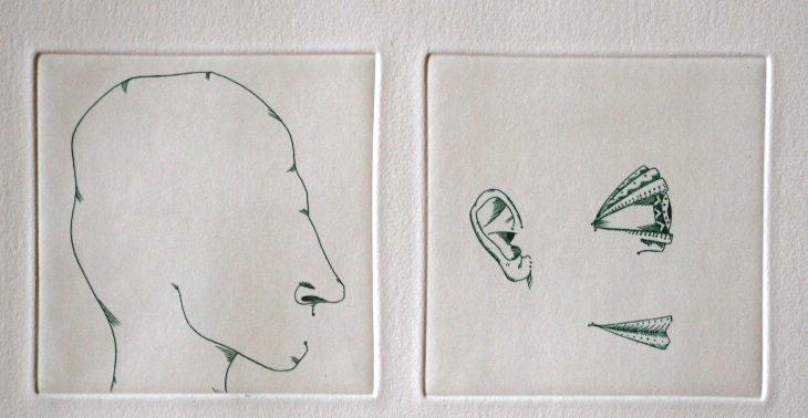 "PONC HAND SIGNED ETCHING ""FACELESS"""