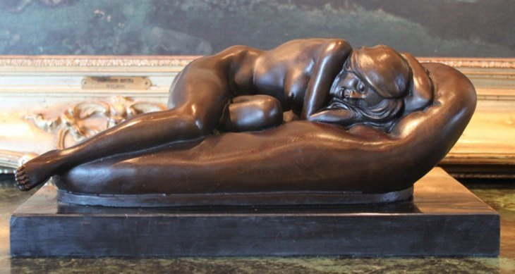 """SLEEPING BEAUTY"" BRONZE SCULPTURE"