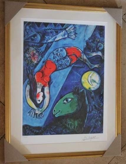 "CHAGALL LTD ED ""BLUE CIRCUS"""