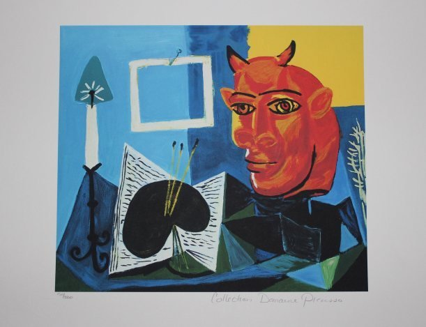 "PICASSO ""STILL LIFE WITH RED HEADED MINOTAUR"""