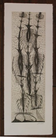 "ZUSH HAND SIGNED ETCHING ""PERSONTAGES II"""