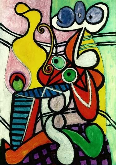 """PICASSO """"LARGE STILL LIFE ON A PEDESTAL TABLE"""""""