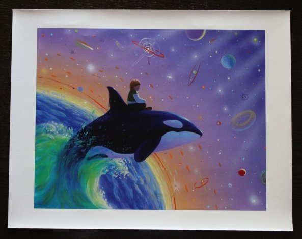 """CHICK BRAGG """"SPACE JUMP"""" - HAND SIGNED"""