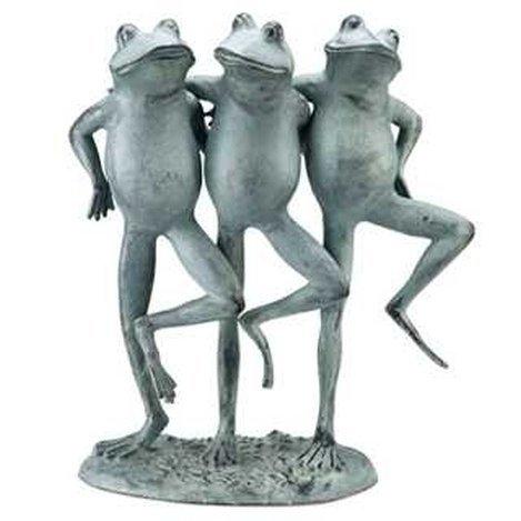 DANCING FROG TRIO GARDEN SCULPTURE
