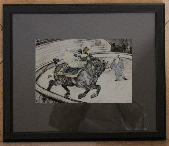 "TOULOUSE-LAUTREC ART PRINT F/M THE ""AT THE CIRCUS"""