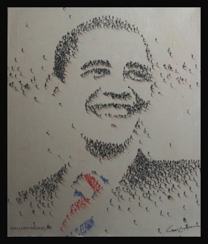 """CRAIG ALLEN SIGNED GALLERY PROOF """"POPULOUS OBAMA"""""""